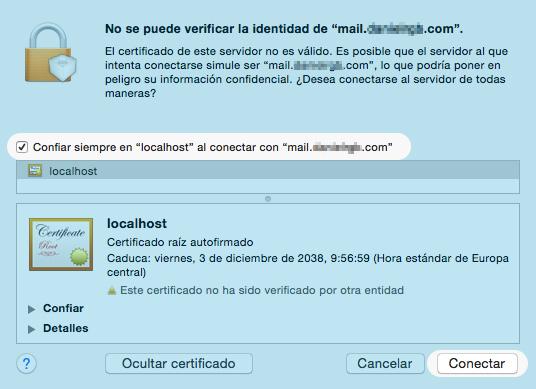 Configurar cuenta de correo electrónico en MAC con Mail