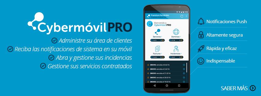 Cybermóvil PRO - Aplicación móvil Android de Cyberneticos